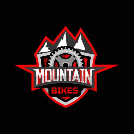 Mountain bikes badge logo