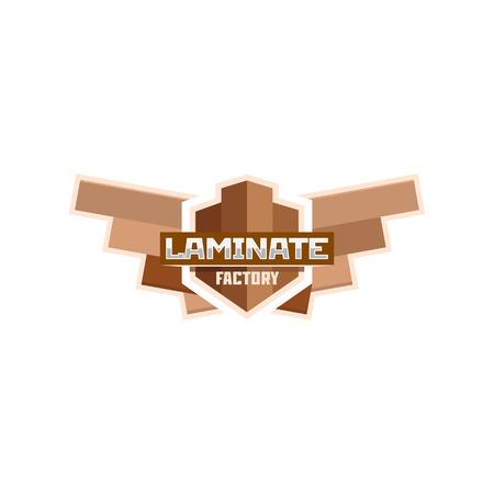 flooring: Laminate factory emblem badge. Illustration