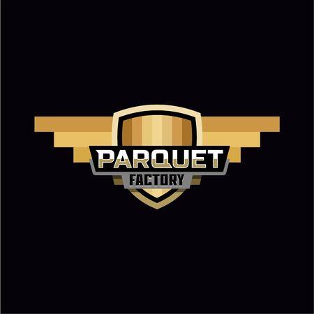 Distintivo del logo della fabbrica del parquet
