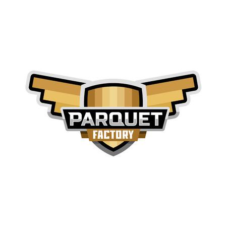 Parquet, fabbrica emblema logo Logo