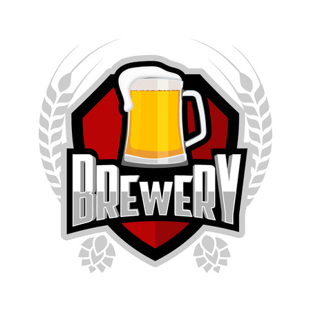 brewery: Brewery logo, beer brewing label.