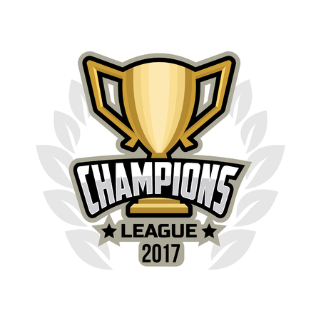 Champions sports league logo emblem badge