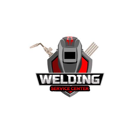 Welding service logo vector template