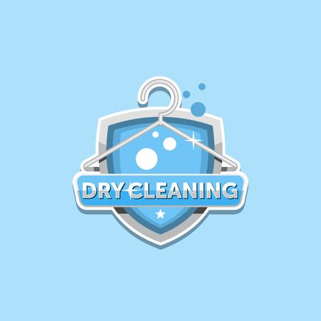 Dry cleaning logo emblem badge