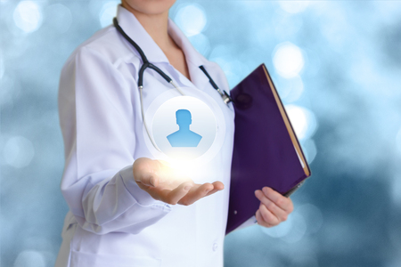 sick kind: Personal doctor. Stock Photo