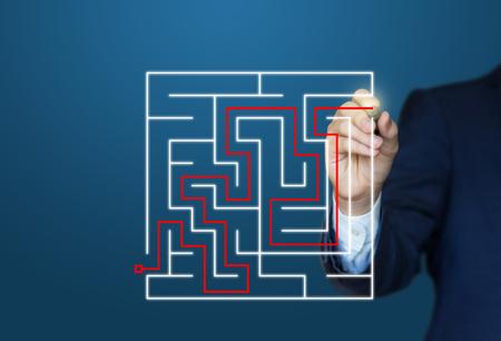 cut through the maze: A businessman finds a Solution .