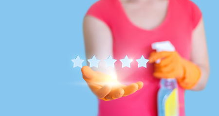 High quality cleaning. Stock Photo