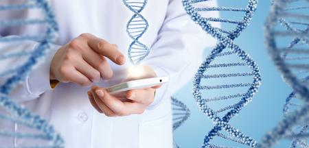 Technologies in science and medicine concept design. Banco de Imagens