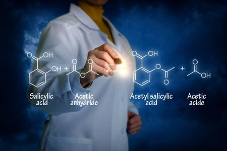 salicylate: Biochemist writes Synthesis of acetylsalicylic acid concept.