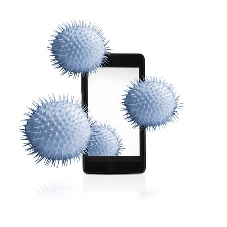 Mobile device is infected with viruses.
