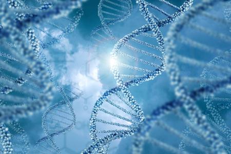 DNA molecules design illustration. Stock Photo