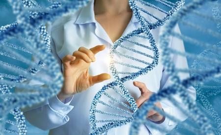 DNA molecules concept design illustration.