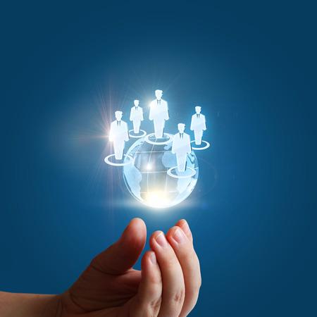 Équipe des activités mondiales du concept de design businesspeople.