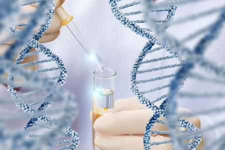 dna 분자 구조 컨셉 디자인 연구.
