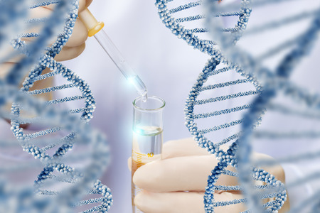 Research over dna molecule structure concept design.