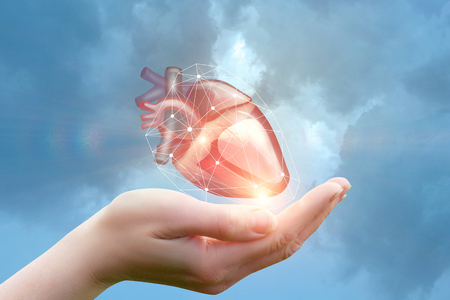 Arm supports the heart concept design .