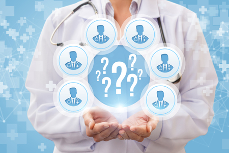 Doctors answer the questions . The concept of medical consultation. Stock Photo