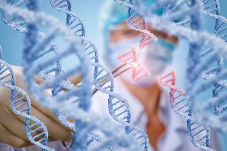 Scienziato che fa una sostituzione di urina il concetto di genetica genetica