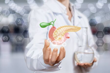 The concept of the mechanism of the treatment and support of the pancreas.