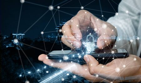 The concept of securing mobile devices in the city network of communication.