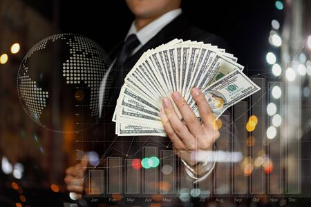 The concept of cash earnings and financial success in business.
