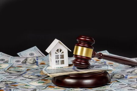 The concept of bankruptcy and sale of movable and immovable property. 写真素材