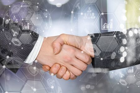 The concept of partnership and cooperation in the network.