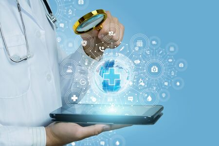 Concept search medical information in the global network. Banque d'images