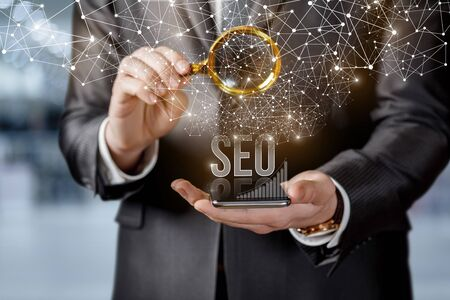The concept of Search Engine Optimization and promotion. Stock Photo - 139600388