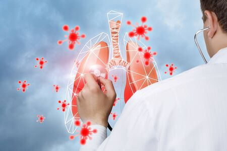 The concept of treatment of viral diseases of the respiratory tract and lungs.