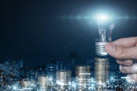 The concept of the idea of financial development and success. Standard-Bild