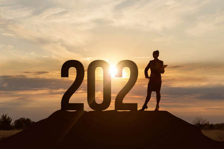 The concept of business prospects in the new 2021. Foto de archivo