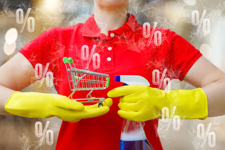 The concept of percentage discounts for cleaning services.