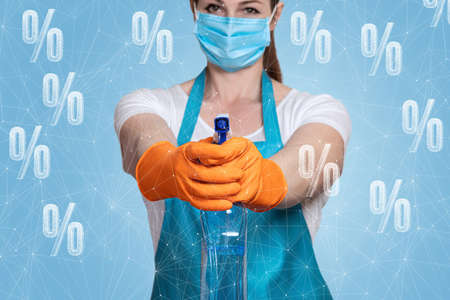 The concept of discounts on cleaning services.