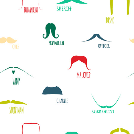 hair mask: Mustaches color set.