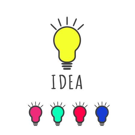 bulb icon: BULB ICON WITH IDEA CONCEPT. Illustration