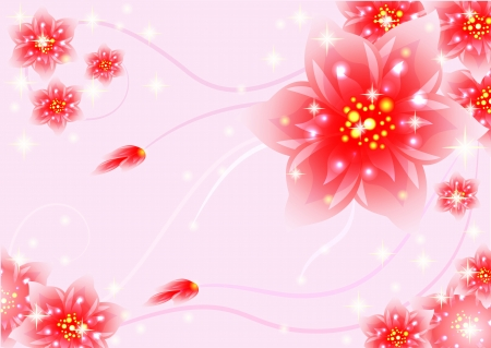 sprockets: Fantasy flowers,  abstract background,  beautiful, illustrations, pink, red,sprockets, sparks,  design, Fantasy floral wallpaper