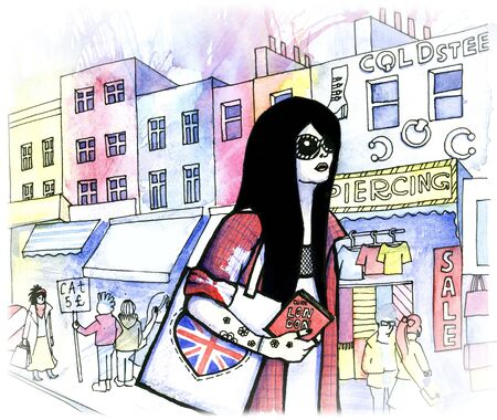 Image result for girl about town cartoon london free image