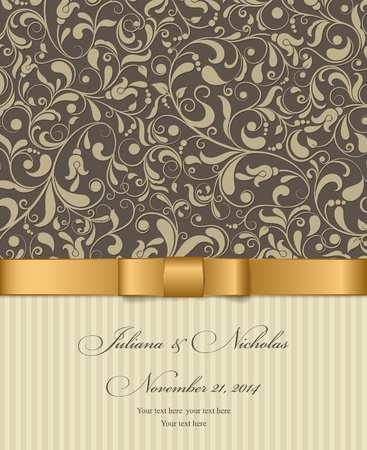 oldstyle: Invitation cards in an old-style brown and gold