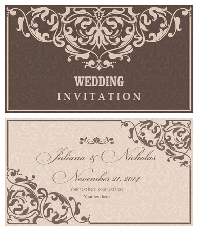 oldstyle: Invitation cards in an old-style brown and beige