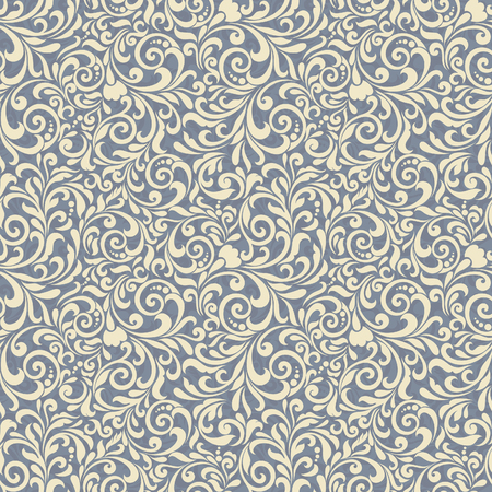 Seamless background of light blue color in the style of Damascus Illusztráció