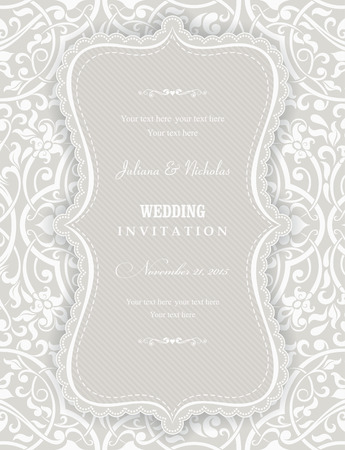 oldstyle: Invitation cards in an old-style beige