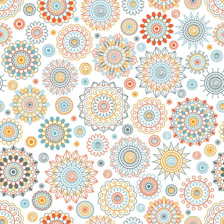 Seamless background in Arabic style. East ornament Mandala. It can be used for wallpaper, design wedding invitations, greeting cards. 向量圖像