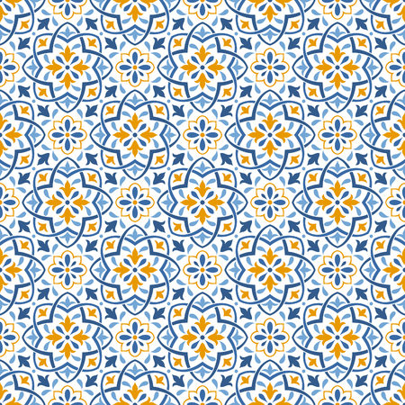 Ethnic seamless patterns, background in folk style. Mediterranean and eastern ornament.
