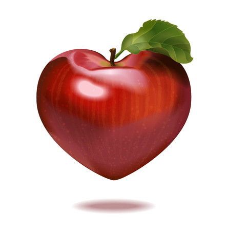 red shape: print apple heart for St-Valentine day Illustration
