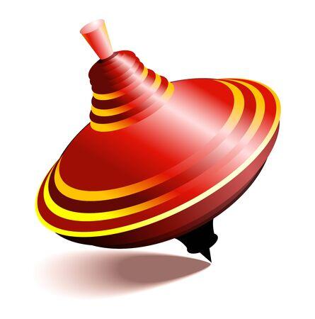 whirligig: illustration of red whirligig