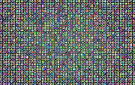 illuminated: Abstract vector background with a lot of circles and light