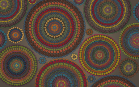 variegated: Abstract african vector background with a lot of  variegated circles and dots