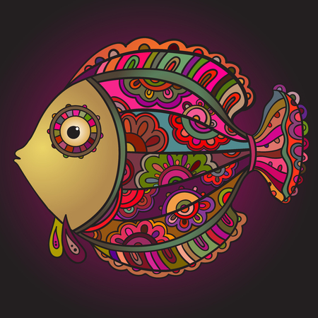 decorative fish: Colorful ornamental decorative fish