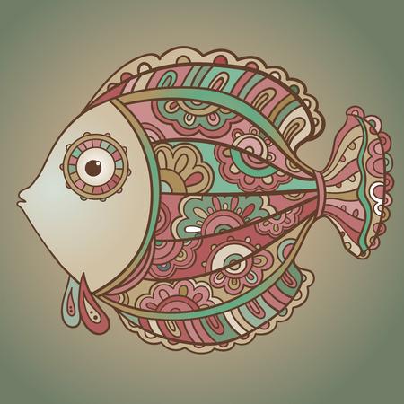 decorative fish: Colorful ornamental decorative fish